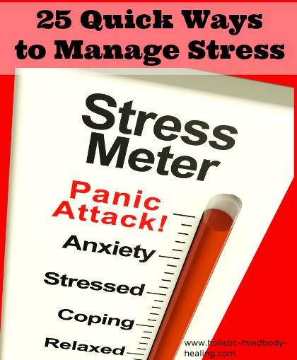 25 quick ways to manage stress