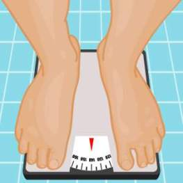 healthy weightloss tips, weighing on a scale