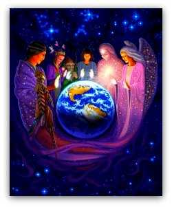 earth energy healing, elders offering healing to Mother Earth