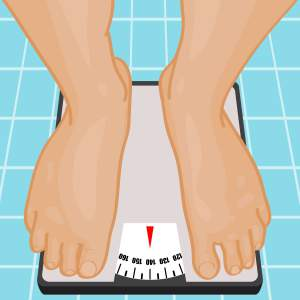 healthy weight loss tips, standing on scale