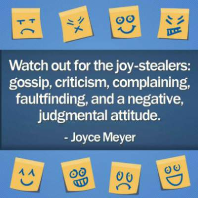 watch out for the joy-stealers quote by Joyce Meyer