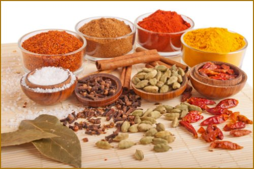 healthy living diet foods and spices