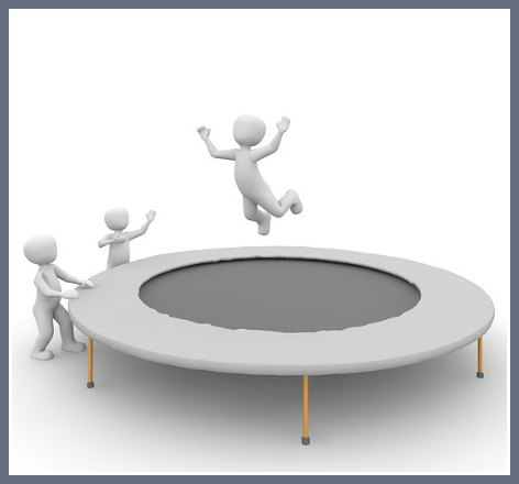 detoxing your body, jumping on trampoline