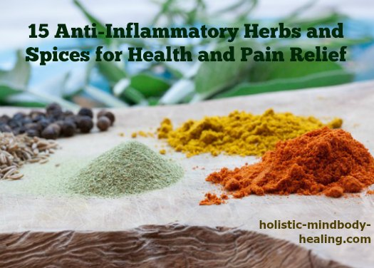 15+ anti-inflammatory herbs and spices for health and pain relief
