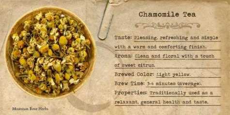 relaxing chamomile tea