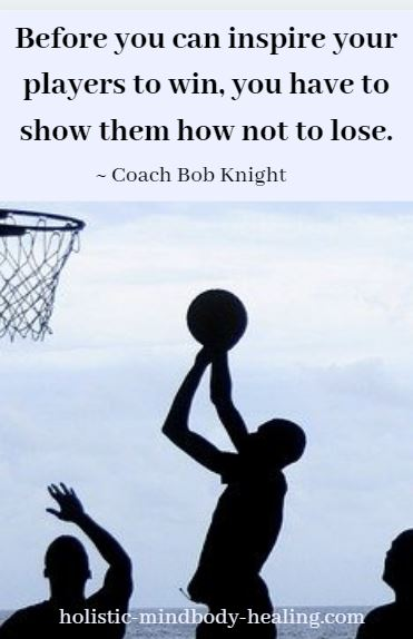 before you can inspire your players - coach bob knight quote, defensive pessimism