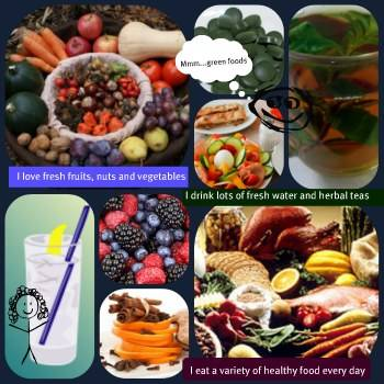 how to create a vision board, healthy eating vision board