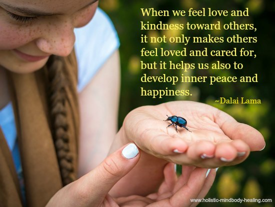 Dalai Lama quote-when you feel love and kindness toward others