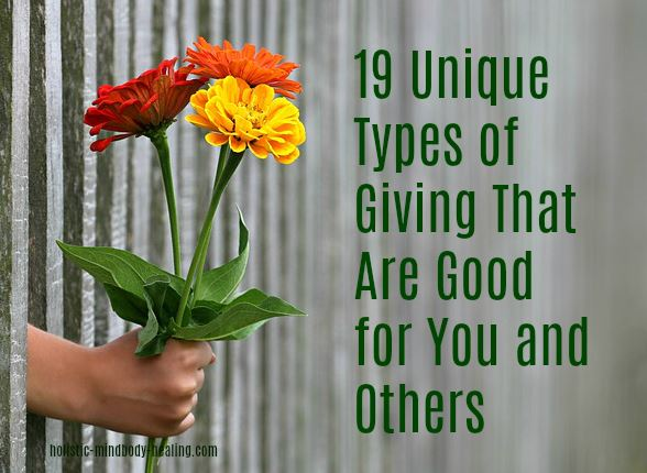 how to give, benefits of giving, unique ways to give
